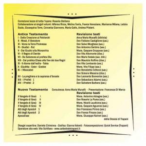 Retro copertina del cd prodotto in cui si possono trovare i nomi di tutti coloro che hanno collaborato nella realizzazione dei volumi